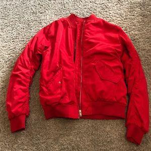 Women's red Bomber Jacket